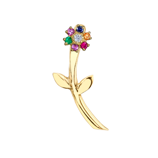 The Last Line Mini Rainbow Teddy Flower Earring