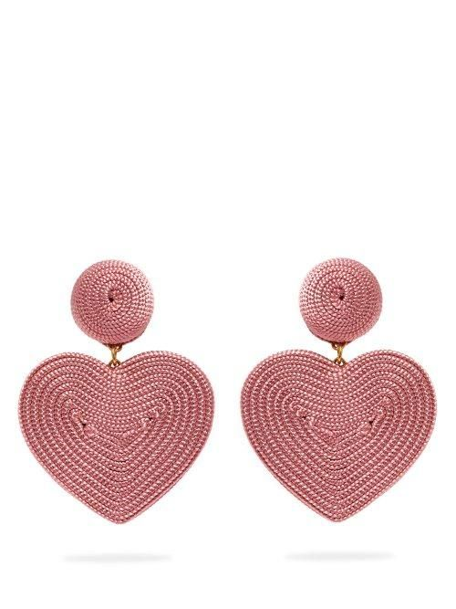Rebecca De Ravenel - Cora Clip On Earrings - Womens - Pink