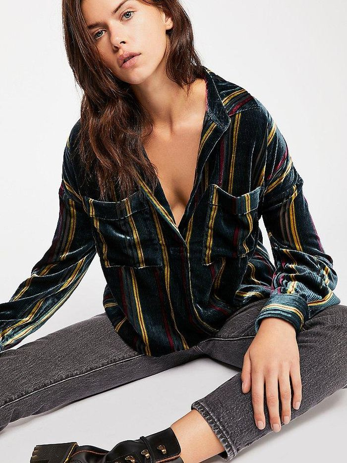 19 Velvet Holiday Tops To Wear With Jeans Who What Wear