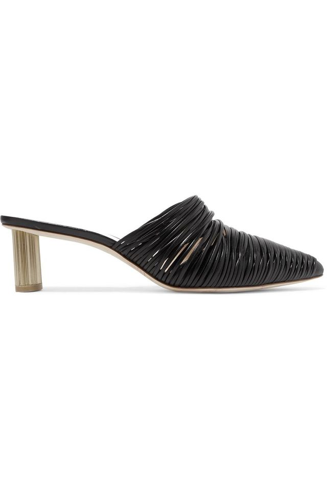 Cult Gaia Sage Leather Mules