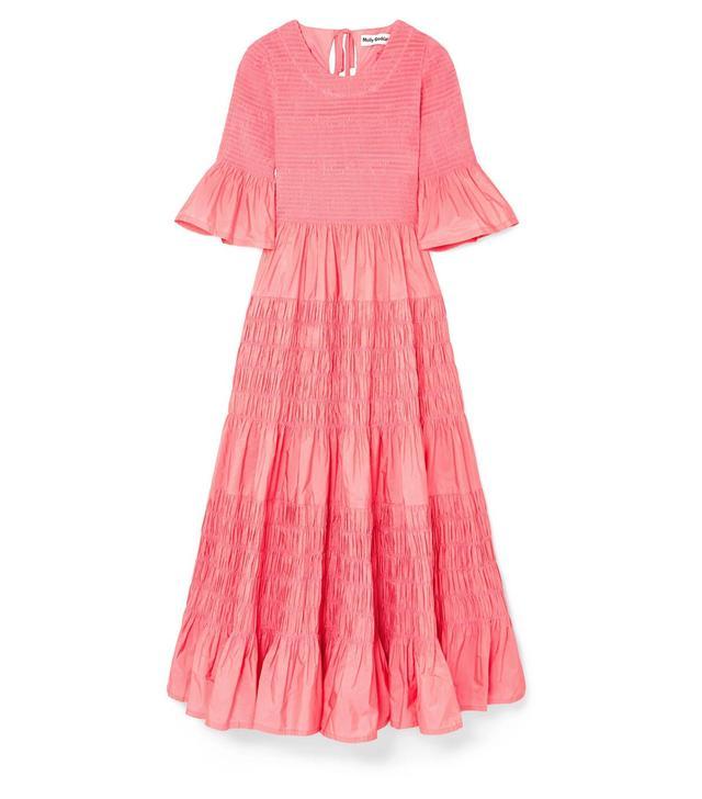 Shaan Shirred Taffeta Dress