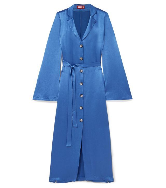 Sandy Belted Satin Dress