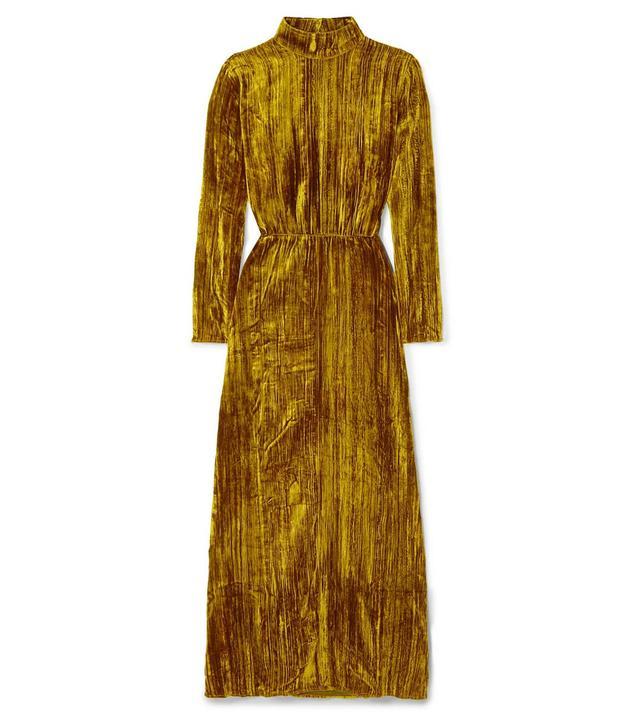 Liv Crushed-Velvet Maxi Dress