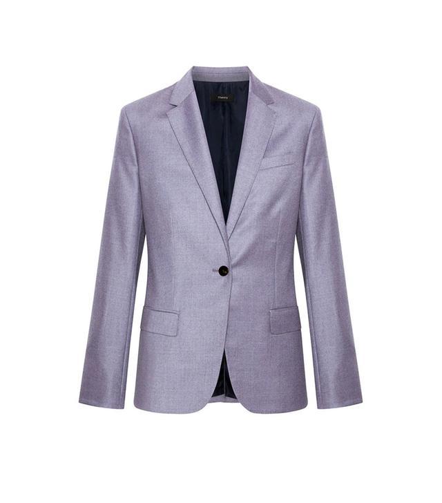 Theory Single-Breasted Wool Blazer