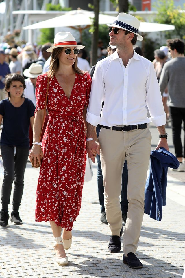 Pippa Middleton's Pregnancy Outfits at Wimbledon