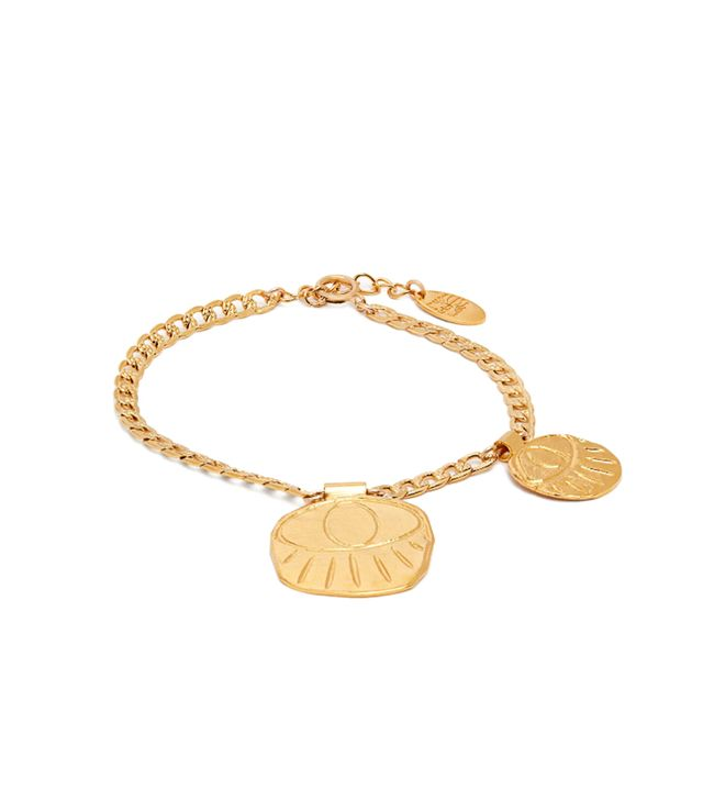 - Ramos Gold Plated Eye Charm Bracelet - Womens - Gold