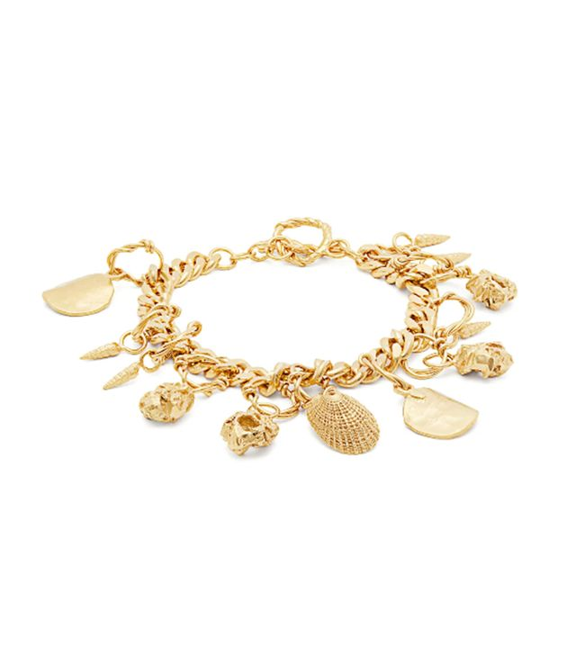 - Katjushka Gold Plated Charm Bracelet - Womens - Gold