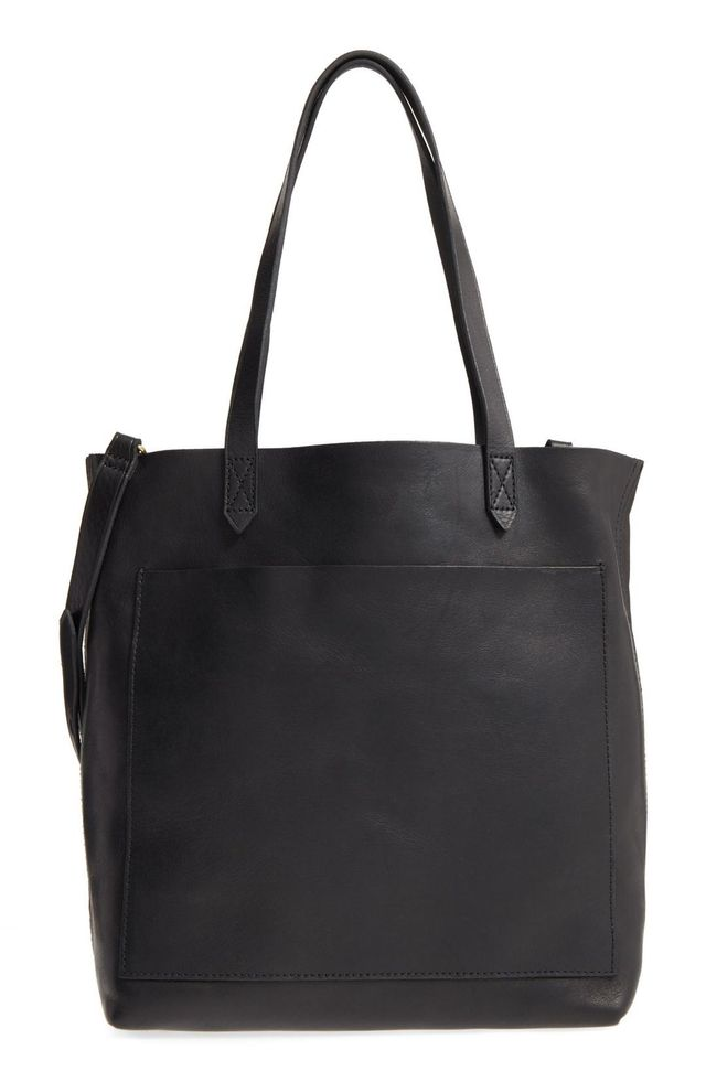 Medium Leather Transport Tote Holiday party etiquette