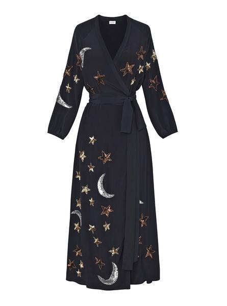 Rhode Resort Jagger Silk Wrap Dress