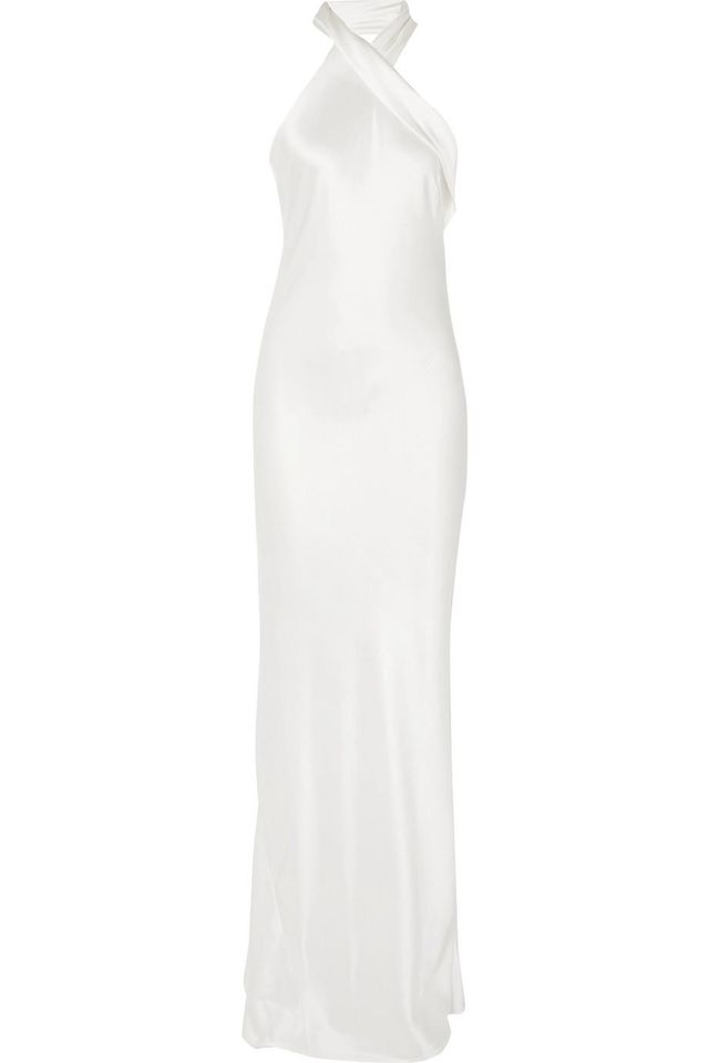 Silk-satin Halterneck Gown