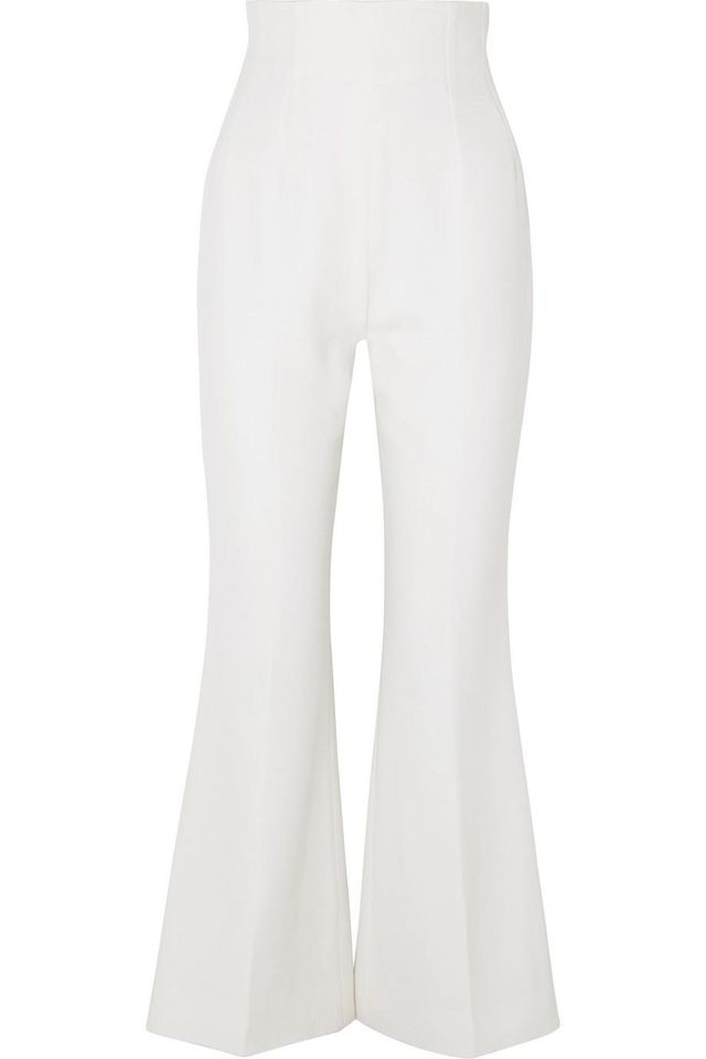 Sammy Cropped Wool-crepe Flared Pants