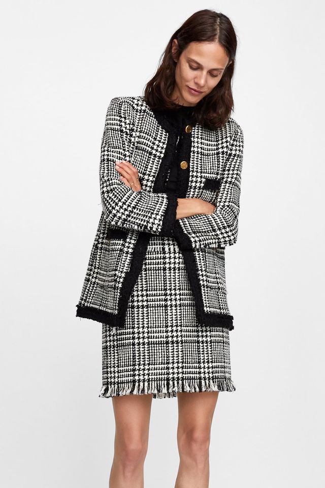 Zara Long Tweed Blazer