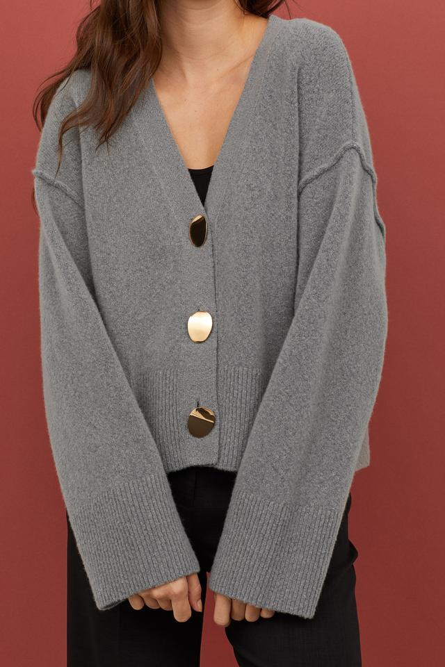 H&M V-Neck Wool-Blend Cardigan