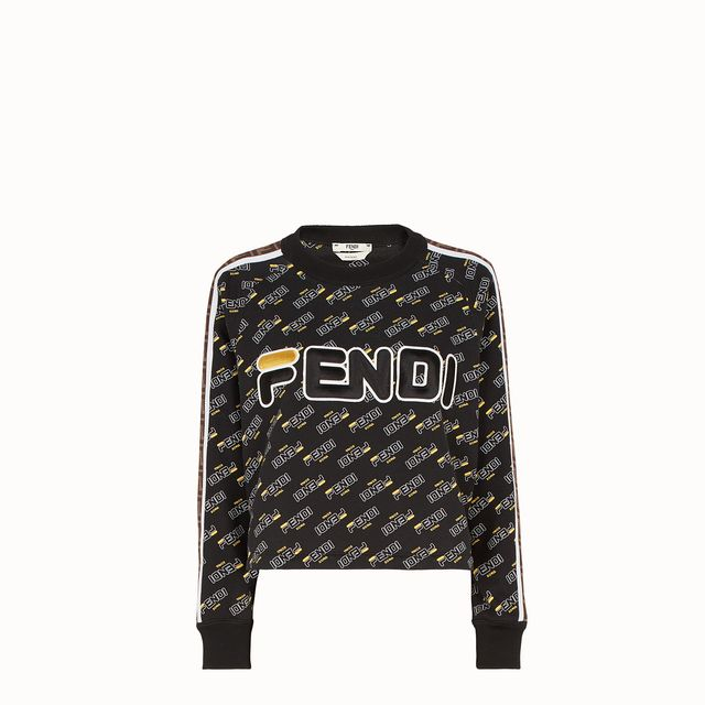 Fendi Black Cotton Sweatshirt