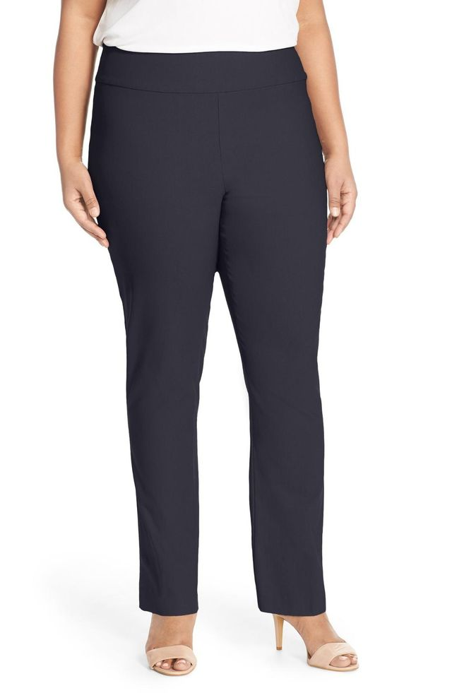 Plus Size Women's Nic+Zoe 'Wonder Stretch' Straight Leg Pants