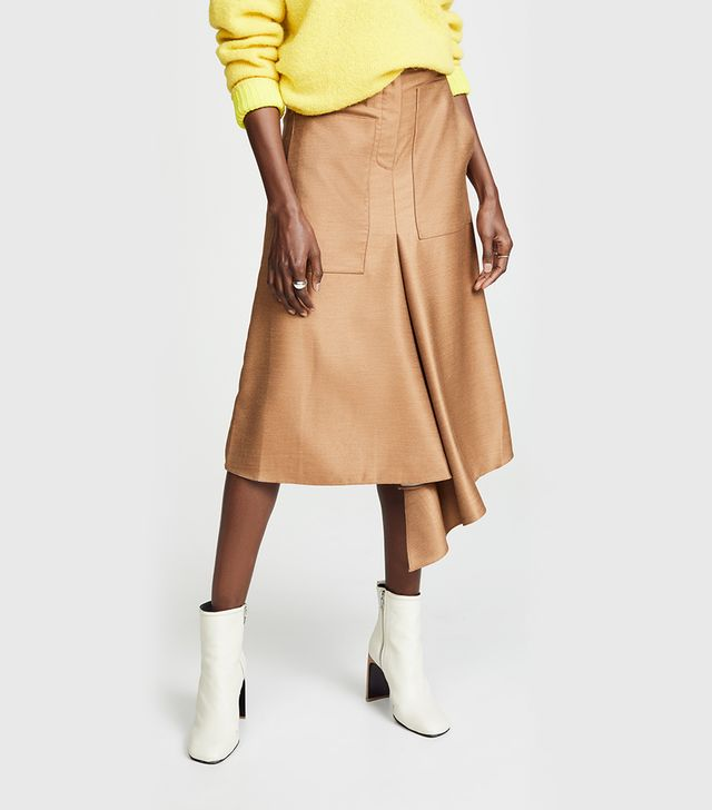 High Waisted Drape Skirt