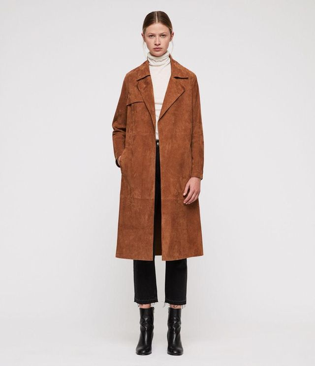 EMBER LEATHER TRENCH COAT