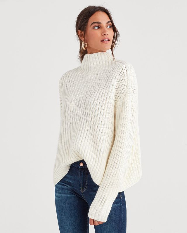 7 For All Mankind Chunky Turtleneck Sweater