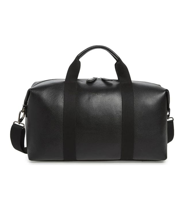 Holding Leather Duffel Bag - Black