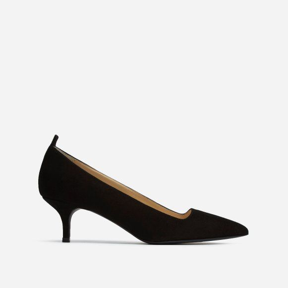 Kitten Heel by Everlane in Navy