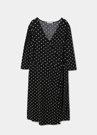 Violeta Wrap Polka-Dot Dress