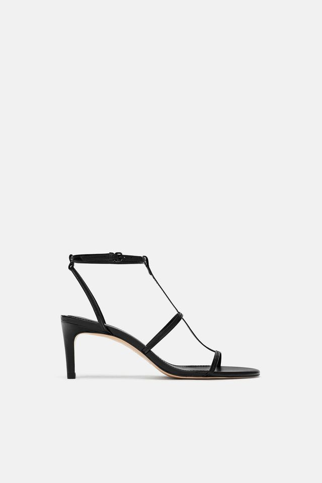 Zara High Heeled Strappy Sandals