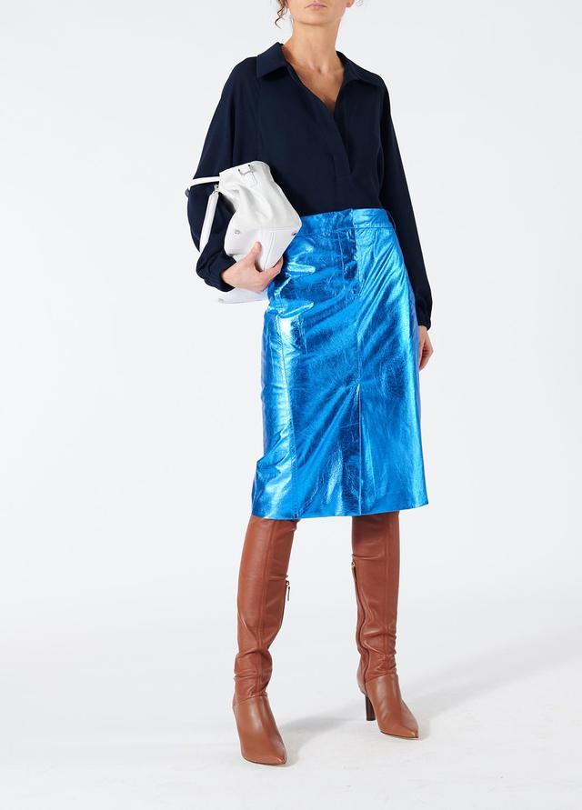 Tech Leather Trouser Skirt