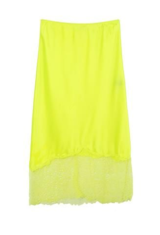 Priscavera Lace Slip Neon Yellow