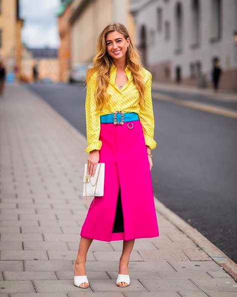 Bright neon outfit