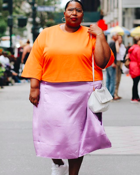 Neon outfit with pastel