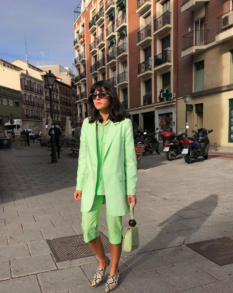 Lime green neon outfit