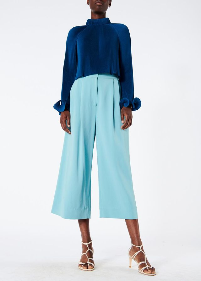 Pleated Cropped Top