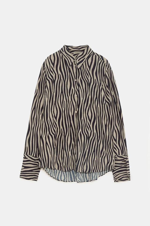 Zara Printed Two-Tone Shirt