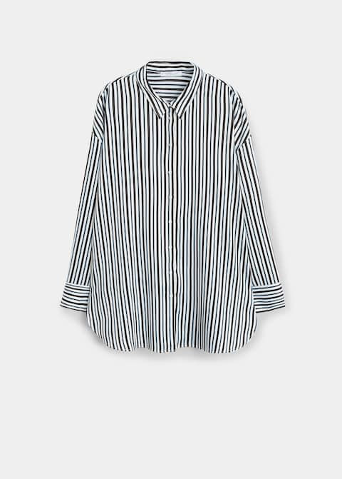 Violeta Striped Flowy Shirt