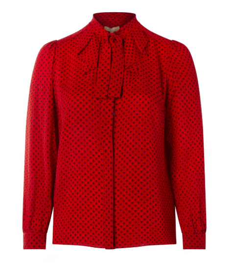Michael Kors Collections Gathered Button Down Blouse