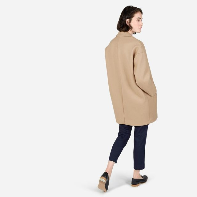 Women's Cocoon Coat by Everlane in Camel, Size 12