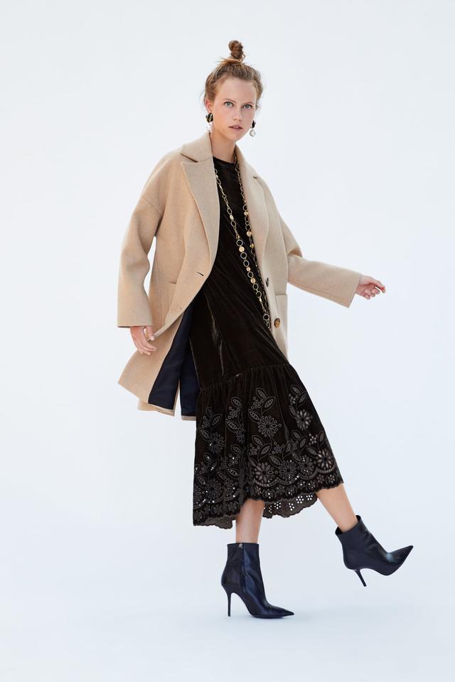 Zara Buttoned Coat