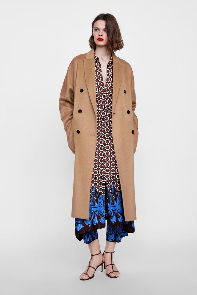 Zara Oversize Double-Breasted Coat