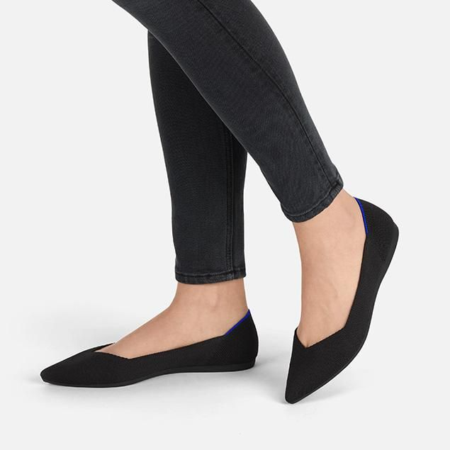 Rothy's The Point Flats in Black