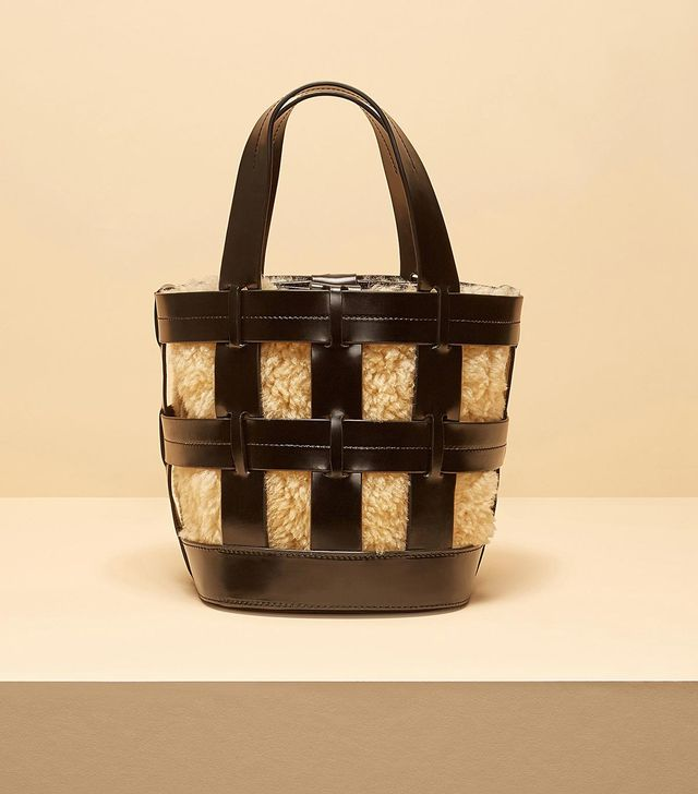 Trademark Shearling Cooper Cage Tote