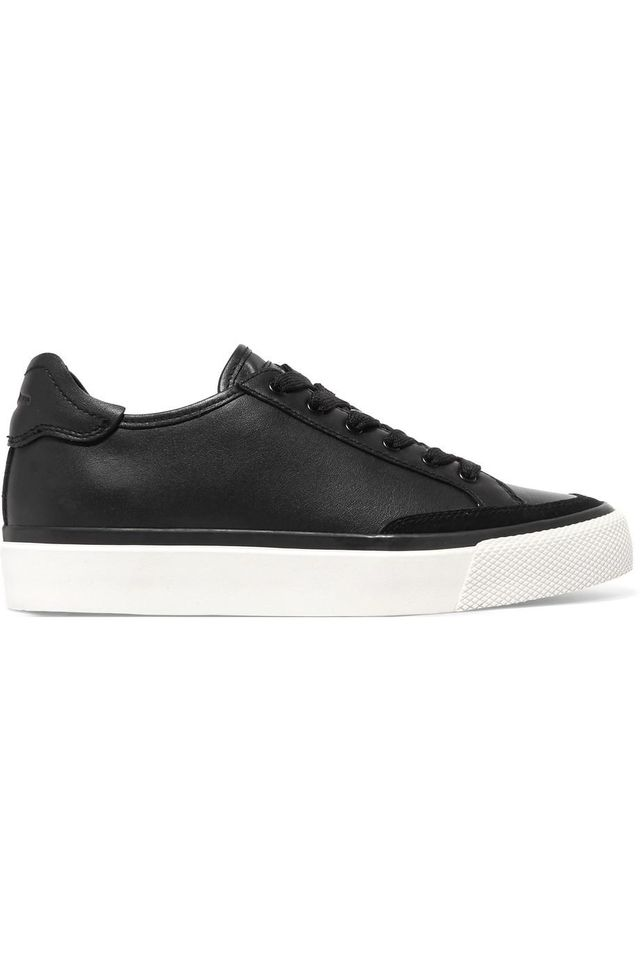 Army Suede-trimmed Leather Sneakers