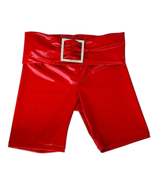 Aya Muse Kenji Red Patent Shorts