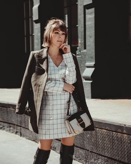 Chic Checkered-Dress Outfits