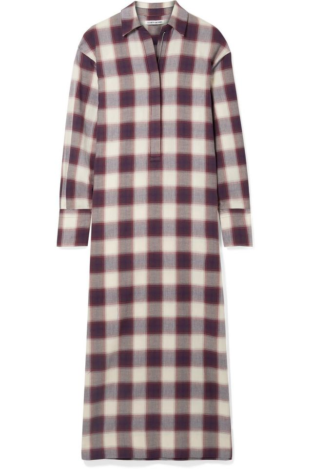 Badgley Checked Cotton Maxi Dress