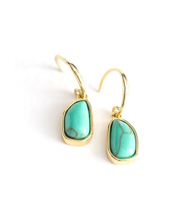 & Other Stories Hanging Turquoise Earrings