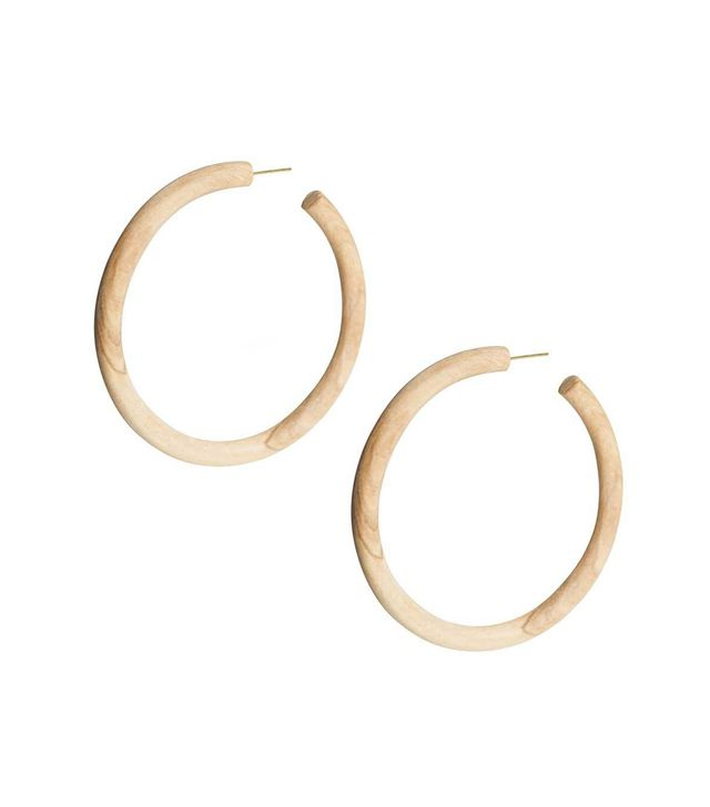 Soko Arlie Maxi Wood Hoop Earrings