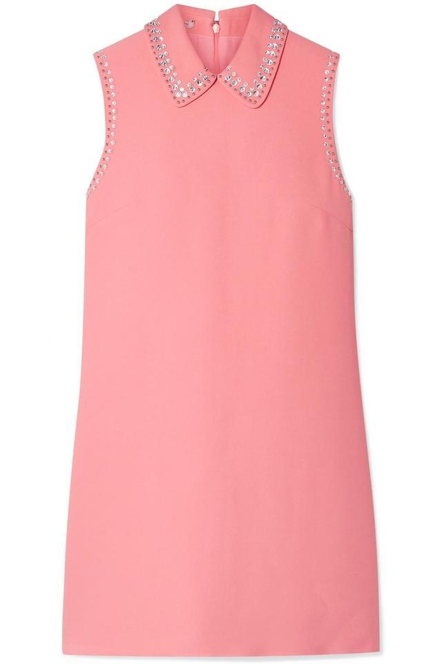 Embellished Cady Mini Dress