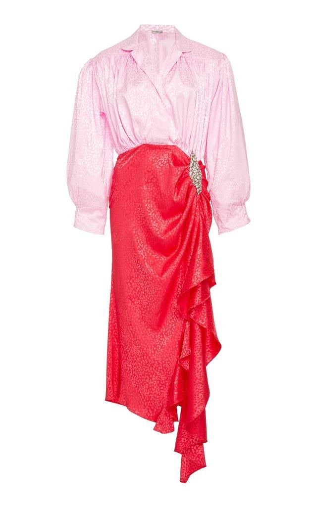 Betta Embellished Two Tone Dress