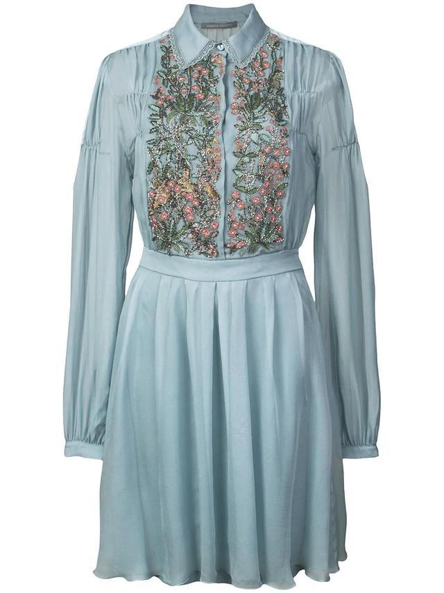 floral-embellished dress