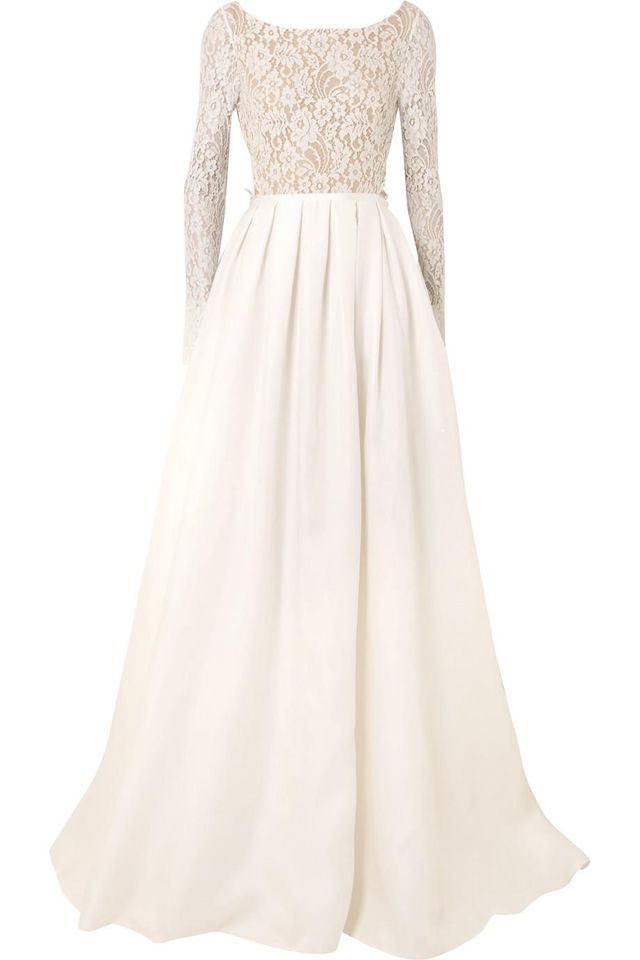 Avery Corded Lace And Silk-gazar Gown